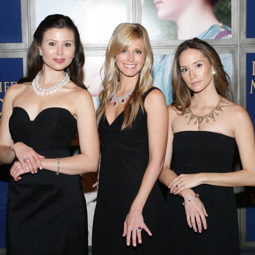 Three Models Wearing Jewelry